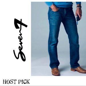 SEVEN7 Size 34W/32L Bootcut Dark Wash Jeans EUC